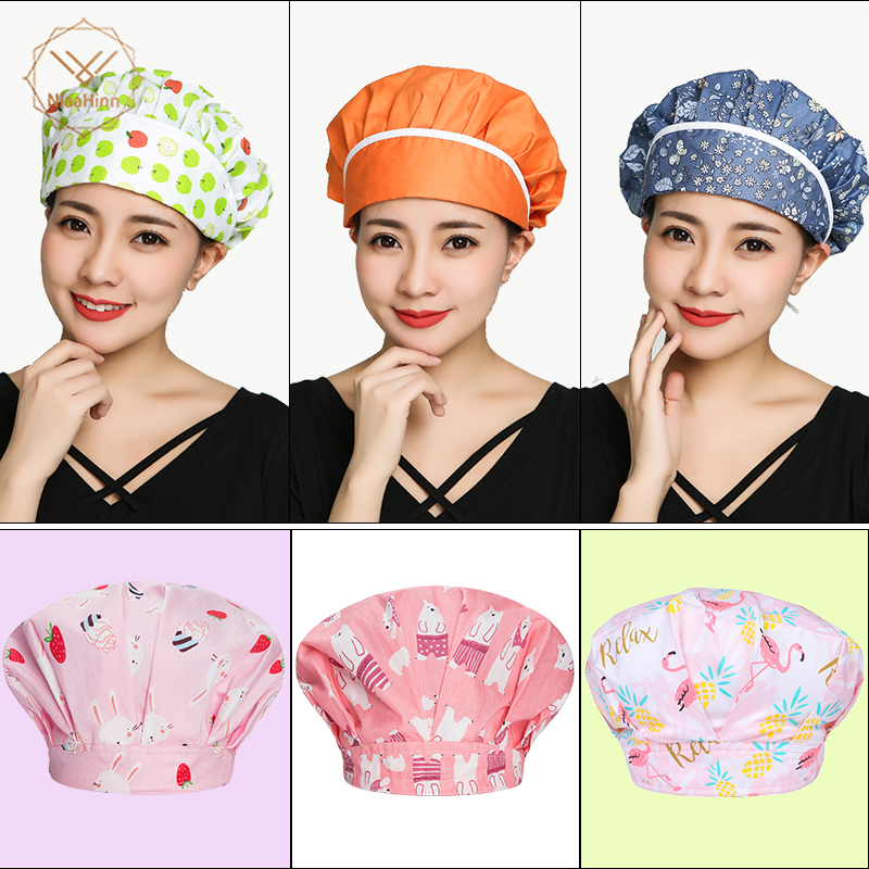 New Arrival Hotel Kitchen Cook Cap Chef Hat Women Men Dustproof Cooking Cap Work Hotel Waiter Hats Cooking BBQ Mushroom Caps
