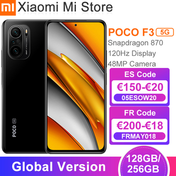 "Versão global poco f3 5g smartphone snapdragon 870 octa núcleo 128gb/256gb 6.67 ""120hz e4 amoled display 48mp triplo câmera nfc 1"