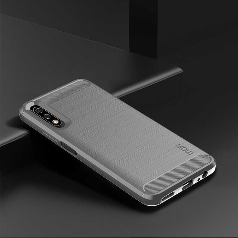 MOFi Huawei 社の名誉 X9 プロケース高級カーボンファイバー落下防止 TPU ソフトカバーケース Huawei 社の名誉 x9 プロ裏表紙