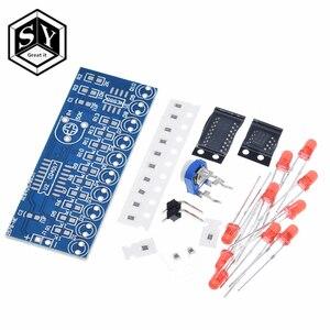 1PCS Great IT NE555+CD4017 Running LED Flow LED Light Electronic Production Suite DIY Kit