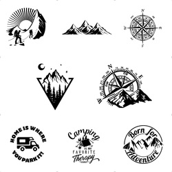 10 Styles Adventure Sports Vinyl Car Sticker Compass Wrap Vinyl Mountain car-Styling Auto Engine Cover Door Window Large Size