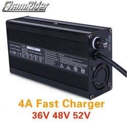 36V 48V 52V chargeur de batterie au Lithium 4A chargeur rapide 42V 54.6V 58.8V li-ion chargeur de batterie ebike vélo électrique cc XLR RCA