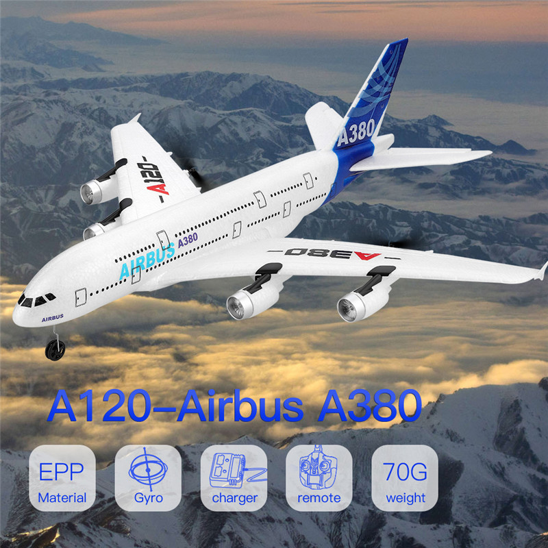 XK A120 Airbus A380 RTF EVA RC Drone Remote Radio Controlled Aircraft Model RC Airplane Foam Air Toy Freewing Fixed Wingspan
