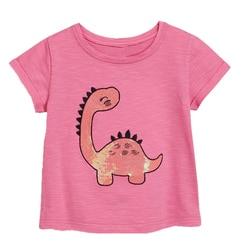 Детская футболка для девочек, летние хлопковые топы для малышей, футболки, одежда для детей, футболки с мультяшными персонажами, повседневн...