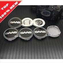 6pcs/lot 68mm Front Hood Emblem/Rear Emblem+4pcs 62mm saab Wheel center covers for saab 9-3 9-5 93 95 BJ 60mm saab label sticker