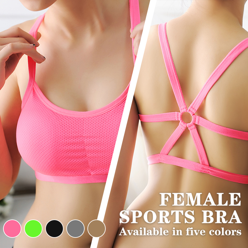 Underwear Padded-Vest Bandage Sport-Bra Fitness-Training Seamless Shockproof Yoga Running