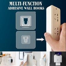 Dupla face adesivo ganchos de parede multi-purpose gancho gancho gancho de parede ventosa otário suporte de armazenamento de parede para cozinha banheiro