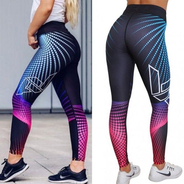 Sport Leggings Women Yoga Pants Workout Fitness Clothing Jogging Running Pants Gym Tights Stretch Print Sportswear Yoga Leggins 2