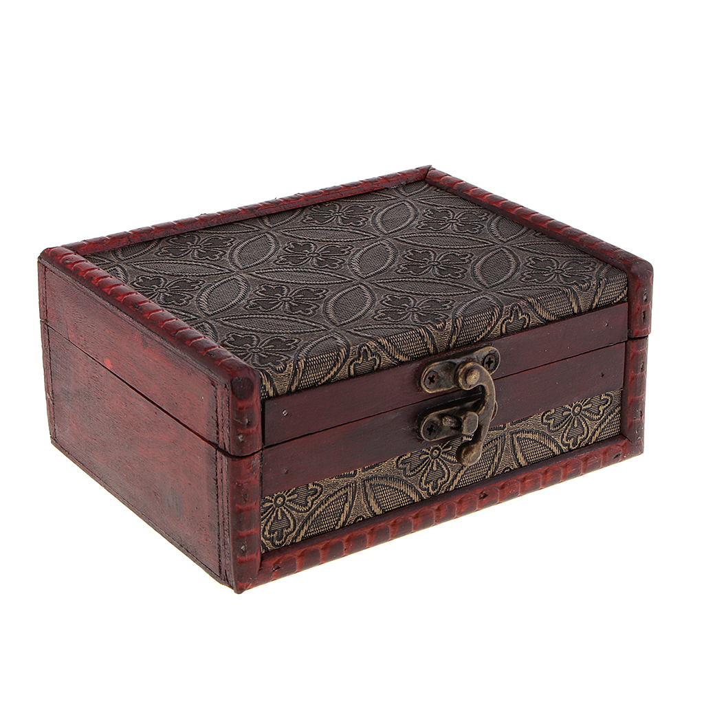 Vintage Wooden Trinket Jewelry Storage Box Treasure Case  Jewelry Organizer  Finger Ring Watch Bracelet Gift Collection