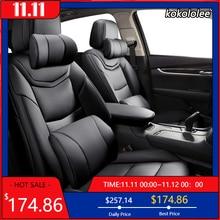 kokololee Custom Leather car seat cover For JEEP Compass Wrangler Patriot Cherokee Grand Cherokee Commander Renegade car sears