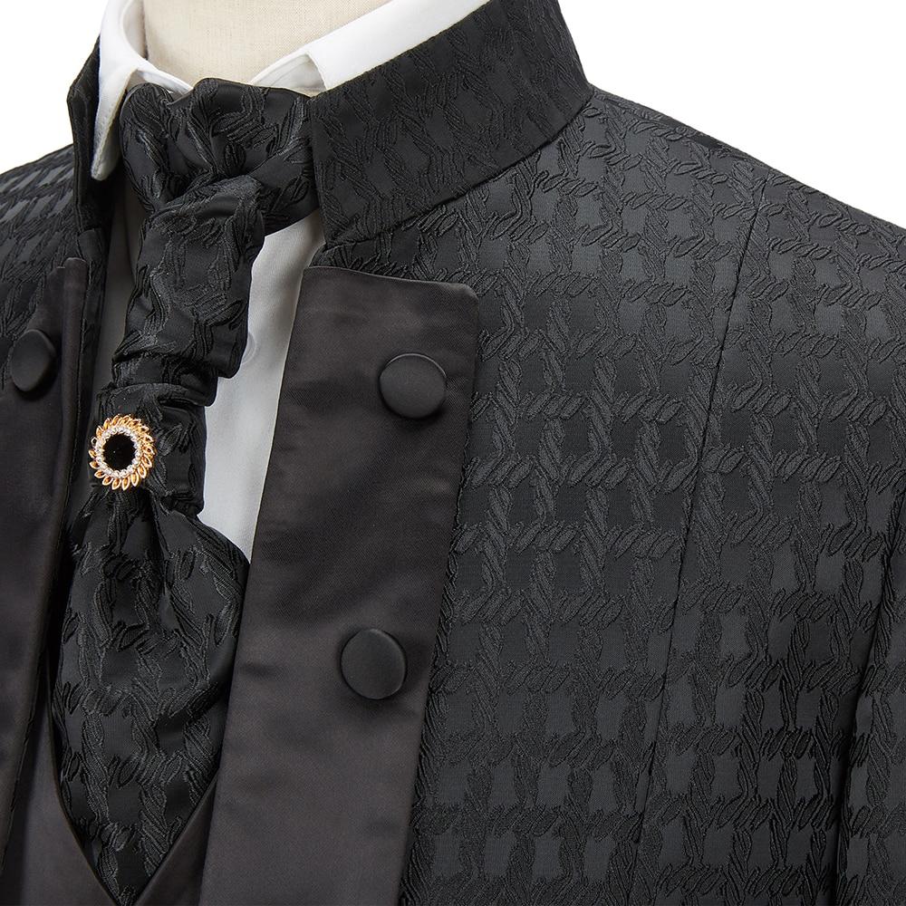 New Costume Des Graoom Tailor Ties Suits  Cenne Blazer Tuxedo Pieces Black 2020 Party 4 Groom Pants Made Men A3 DG Wedding Suit