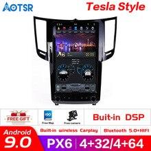 Reproductor de navegador estilo Tesla para Infiniti FX FX25 FX35 FX37 qx70, unidad principal de grabadora de radio, GPS para coche, Android 9,0