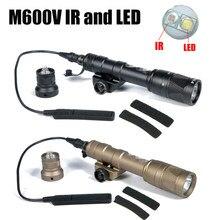 Luz do ir M600V-IR infravermelho fashlight scout luz branca & ir saída 20mm picatinny ferroviário com interruptor de pressão caça