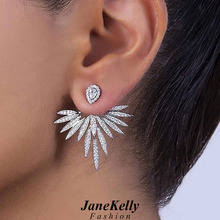 Angel Brilliant Elegane Big Stud Earrings for Women Earring Fashion Jewelry brincos Ohrringe Boucle Doreille