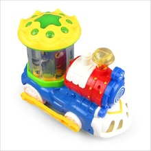 new style Electric universal underwater world revolving train Light and music walking automatically