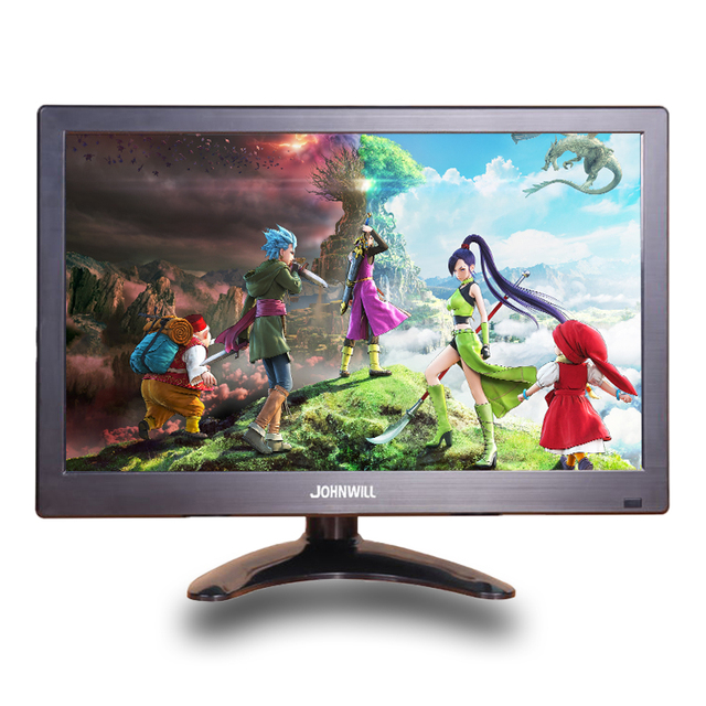 """12"""" inch LCD Portable HDMI Monitor for Macbook Pro VGA Interface 1920x1080 Gaming Display For Home Security System PS4 Xbox360"""