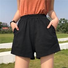 Pantalones cortos de mujer negro 2020 moda de verano nueva ropa Casual color sólido egan Hip hop punk bolsillo dropshipping harajuku vintage