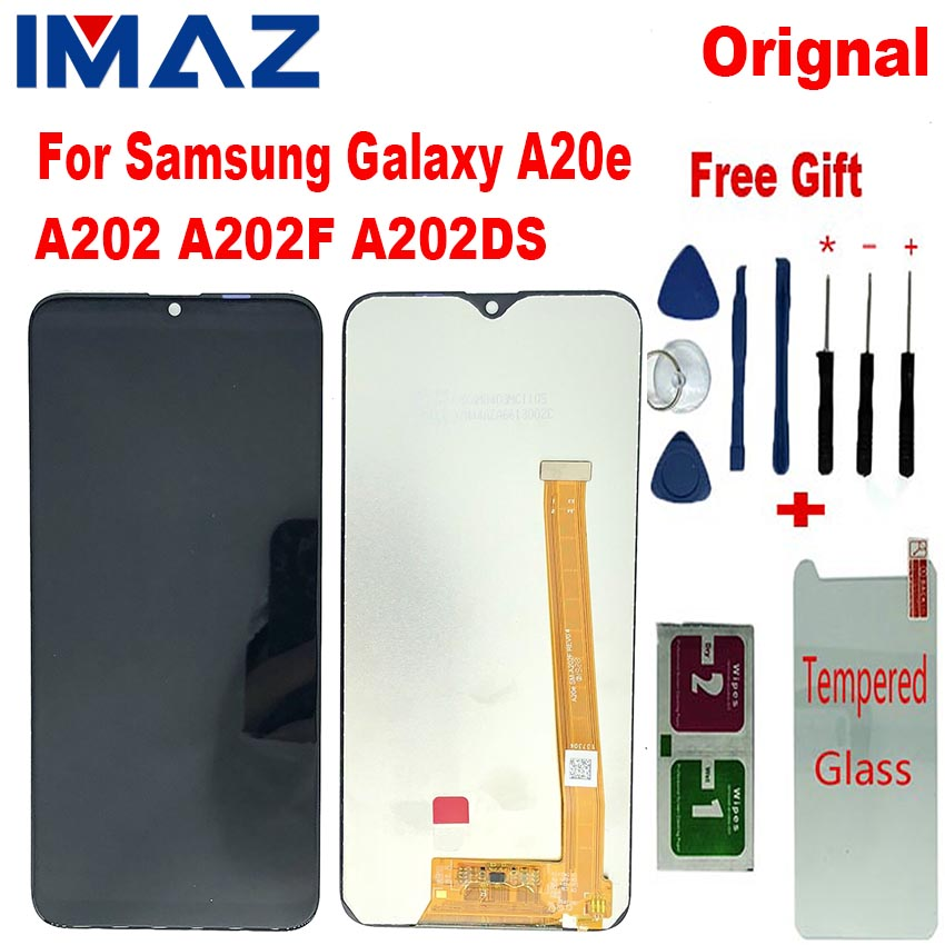 "IMAZ Original 5.8"" LCD For Samsung Galaxy A20e A202 A202F A202DS Display Touch Screen Digitizer Assembly For A20E a20e LCD +KITS"