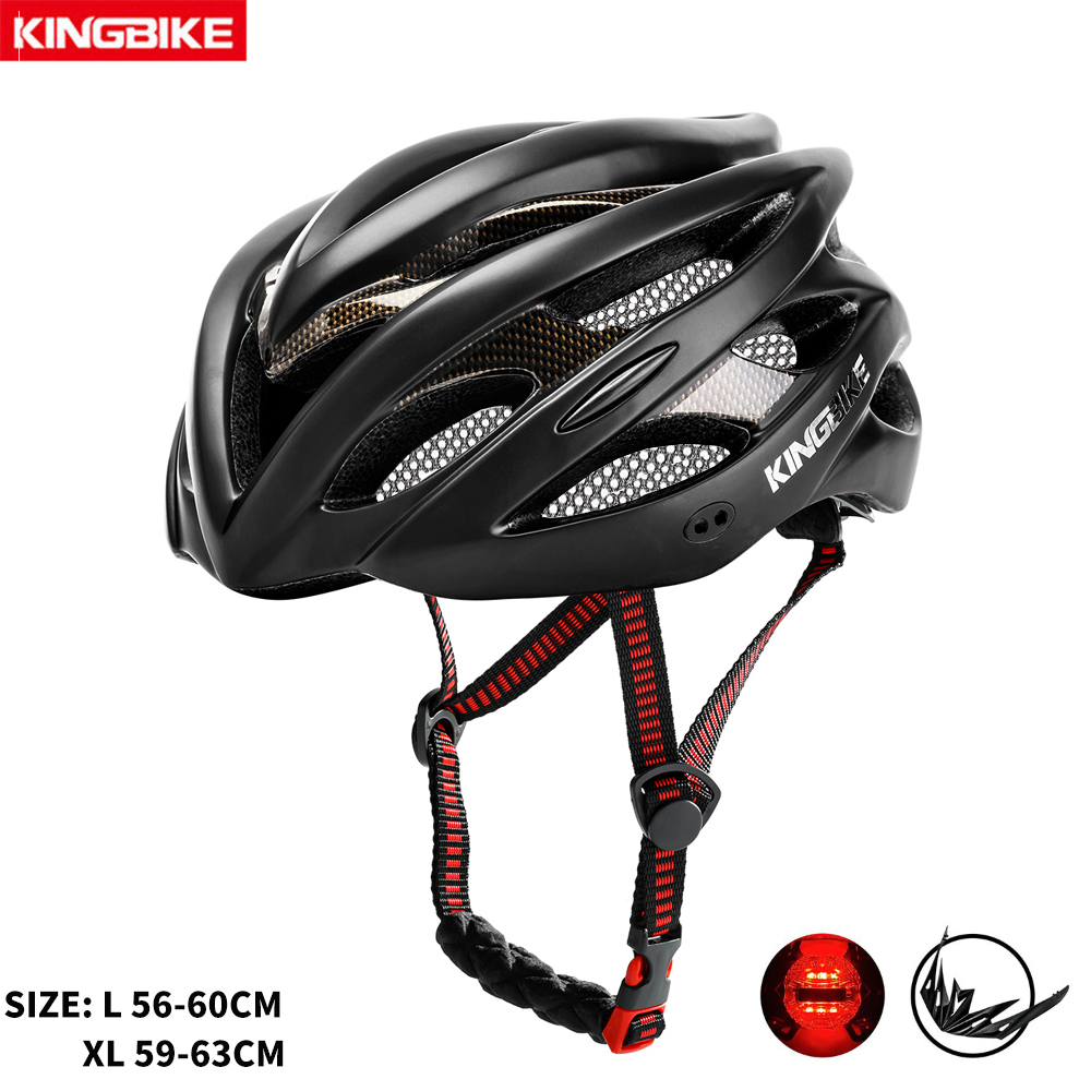 KINGBIKE MTB bike helmet Integrally molded Road cycling helmet Ultralight casco ciclismo men mountain bike helmet with light|Bicycle Helmet| |  - title=