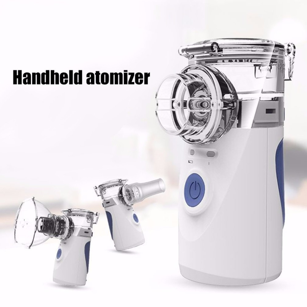 Mini Handheld Facial Nebuliser Steaming Tool Nebulizer Silent Ultrasonic Respirator Humidifier Kids Adult Rechargeable Automizer