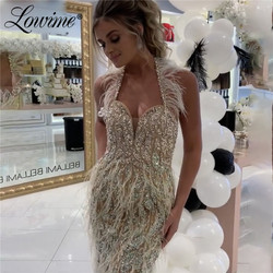 Lowime Customized Arabic Evening Dress Prom Dresses Party Gowns Dubai Robe De Soiree Saudi Arabia Aibye 2020 Women Evening Wear