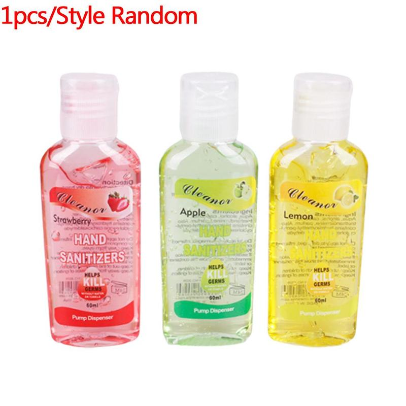 60ml Hand Sanitiser Fruit Flavour Antibacterial Hand Gel Strawberry /Apple/Lemon Portable Hand Sanitizer Waterless Cleaner