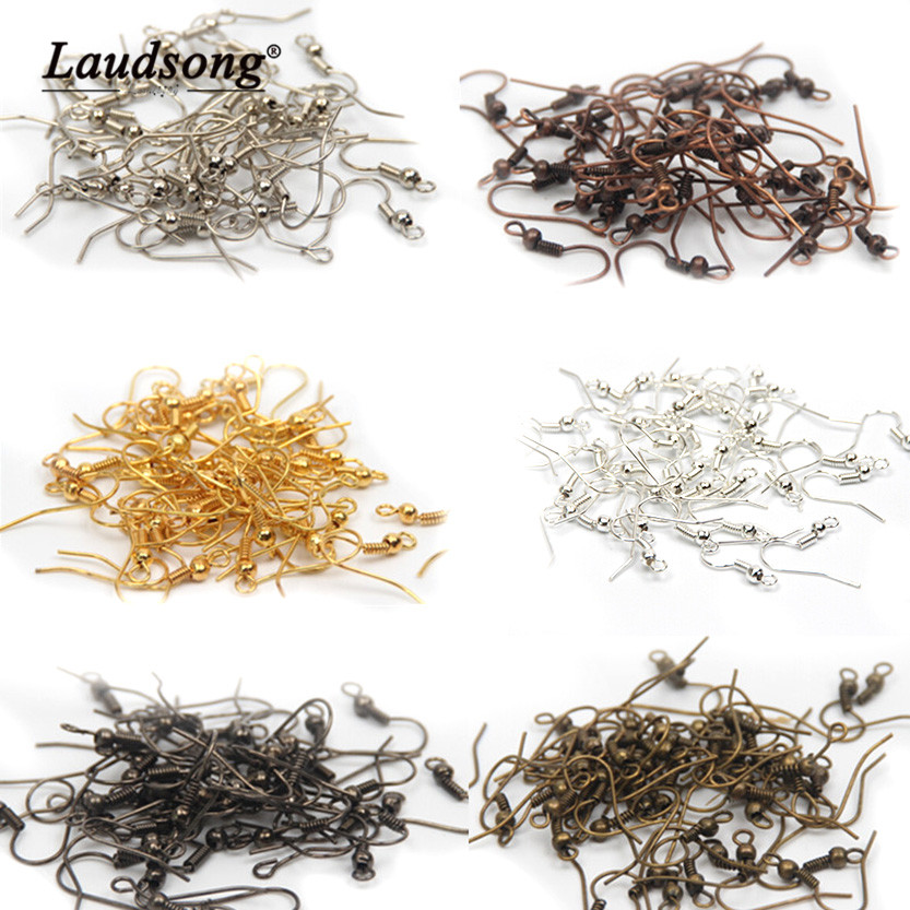 100PCS 6 Color Earring Hook Buckle For DIY Jewelry Earrings Making Accessories Jewelry Connector 20x18MM