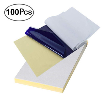 100 Sheets  Thermal Tattoo Transfer Paper A4 Size Thermal Stencil Carbon Copier Paper Tattoo Accessories Tattoo Supply practical set 100 sheets tattoo thermal stencil transfer copier paper a4