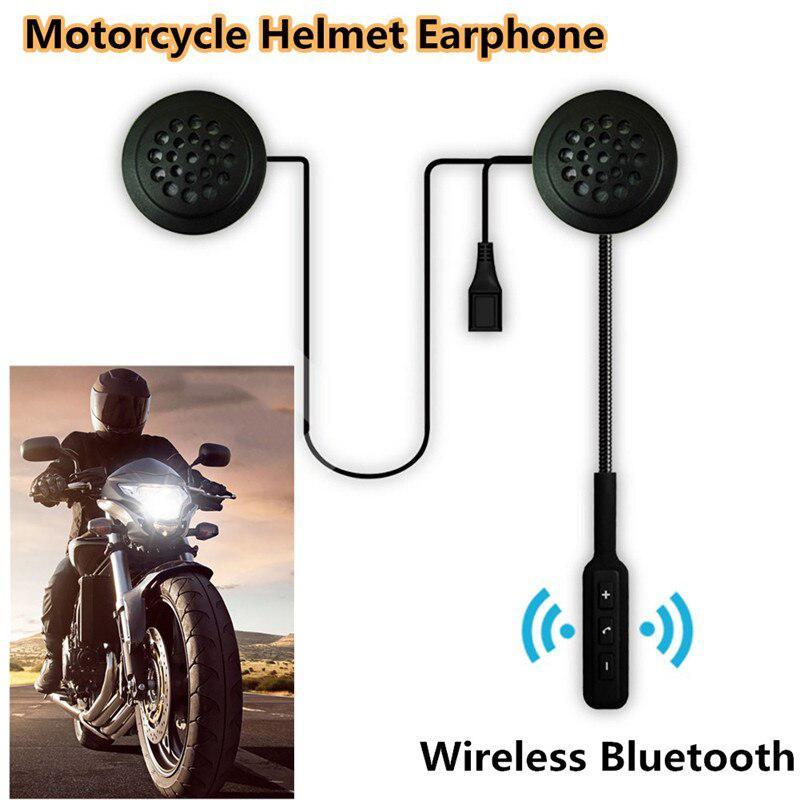 Motorcycle Helmet Earphone Interphone Wireless Bluetooth Helmet Headset Headphone Dual Stereo Handsfree For MP3 MP4 Phone