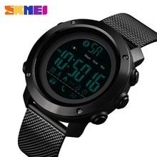 SKMEI Sport Smart Watch Men Calories Pedometer Bluetooth Watches Milanese Strap Calorie Waterproof Digital 1462