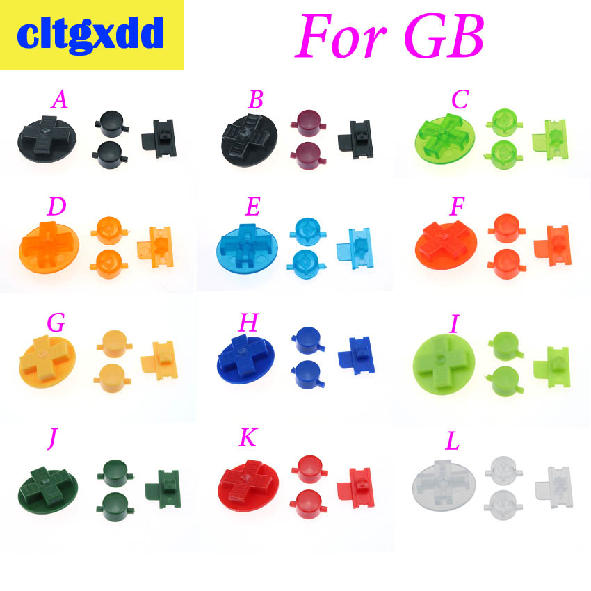 Cltgxdd 12 Colors Optional Controller DIY Buttons Set Replacement For Gameboy Classic For GB DMG A B Buttons D-pad Button