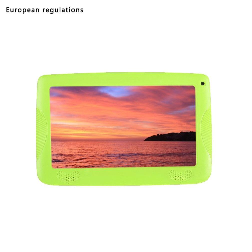 Q18 Quad-Core Wifi Internet 7-Inch Kinderen Leren Machine Multifunctionele Cartoon Tablet Voor En Na 30W Camera 512M + 8G