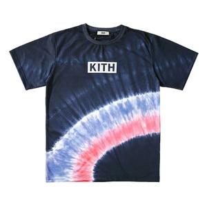 Летняя стильная футболка KITH 2020, мужские и женские футболки Kith, радужные топы с галстуком-краской, футболка в стиле хип-хоп, уличная одежда с к...