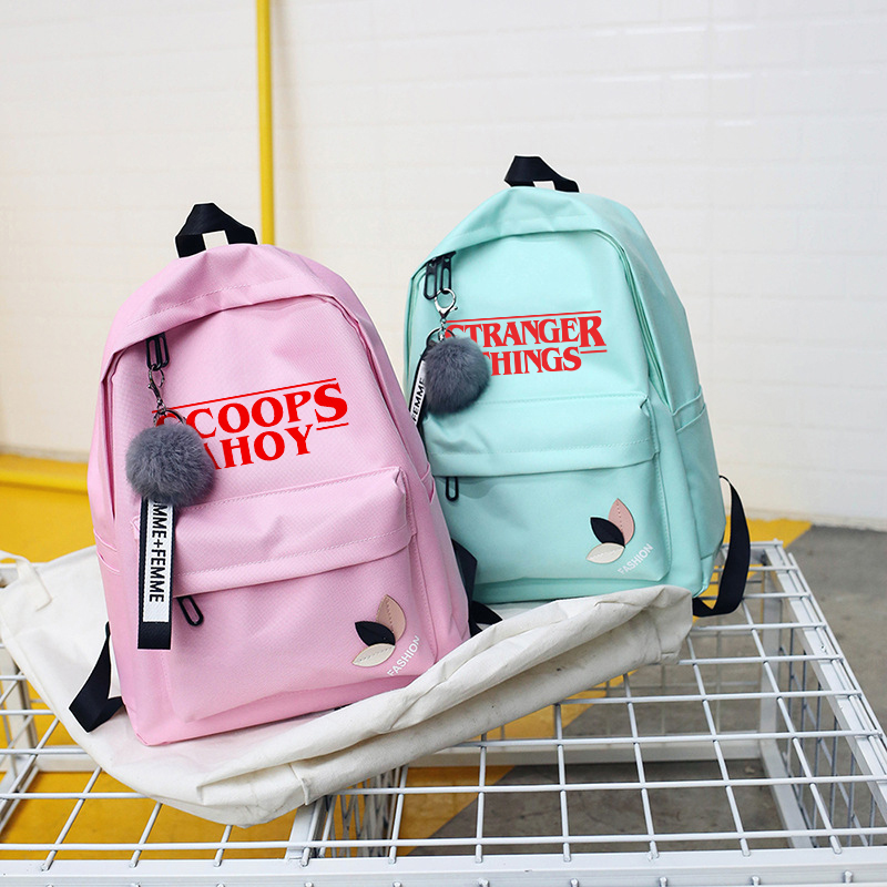 Stranger Things Season 3 Backpack Men/women Back To School Canvas Bagpack Laptop Travel Harajuku Backpacks Male/female Sac A Dos