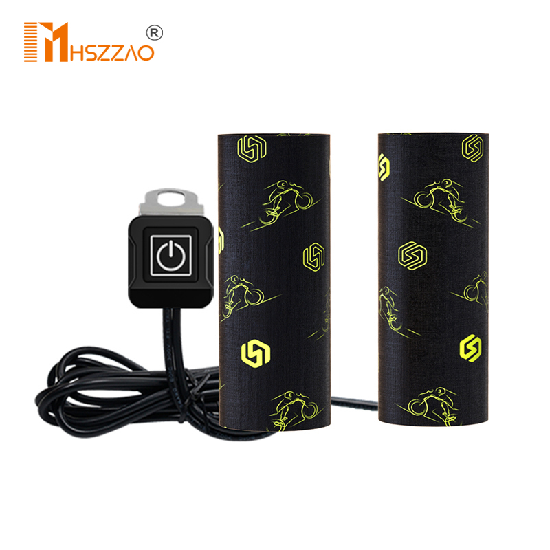 12 V Motorcycle Quick Loading And Unloading Velcro Electric Heating Handle Cover Waterproof Winter Warm Electric Heating Handle