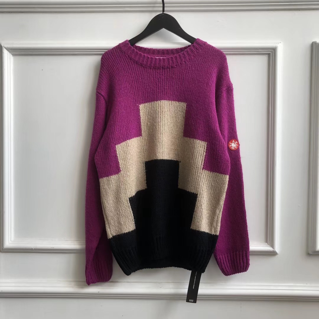 2019FW 1:1 Quality CAVEMPT Knitted Sweaters Women Men Pullovers Cav Empt C.E Round Neck Men Geometry Printed Oversized Sweaters