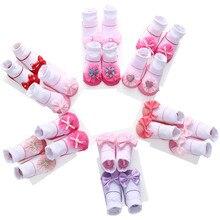 2 pairs/Set Fashion Bow Princess Newborn Baby Socks Candy Cute Cotton Gift Set