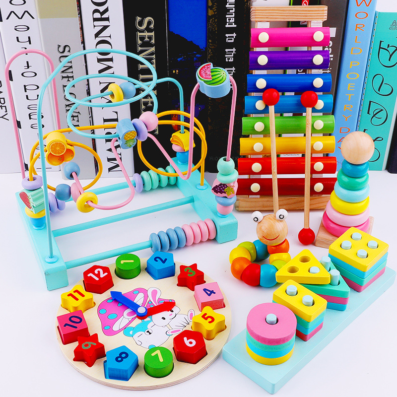 Children Bead-stringing Toy Baby Educational Toy 1-3 Month Beaded Bracelet 6-12 A Year Of Age Infant Have Unisex Toy