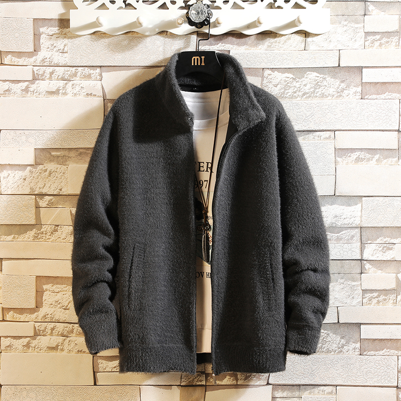 Solid Color New 2018 Thick Fashion Brand Sweater For Mens Cardigan Knitwear Warm Autumn Japan Design Clothes Plus Size M-3XL