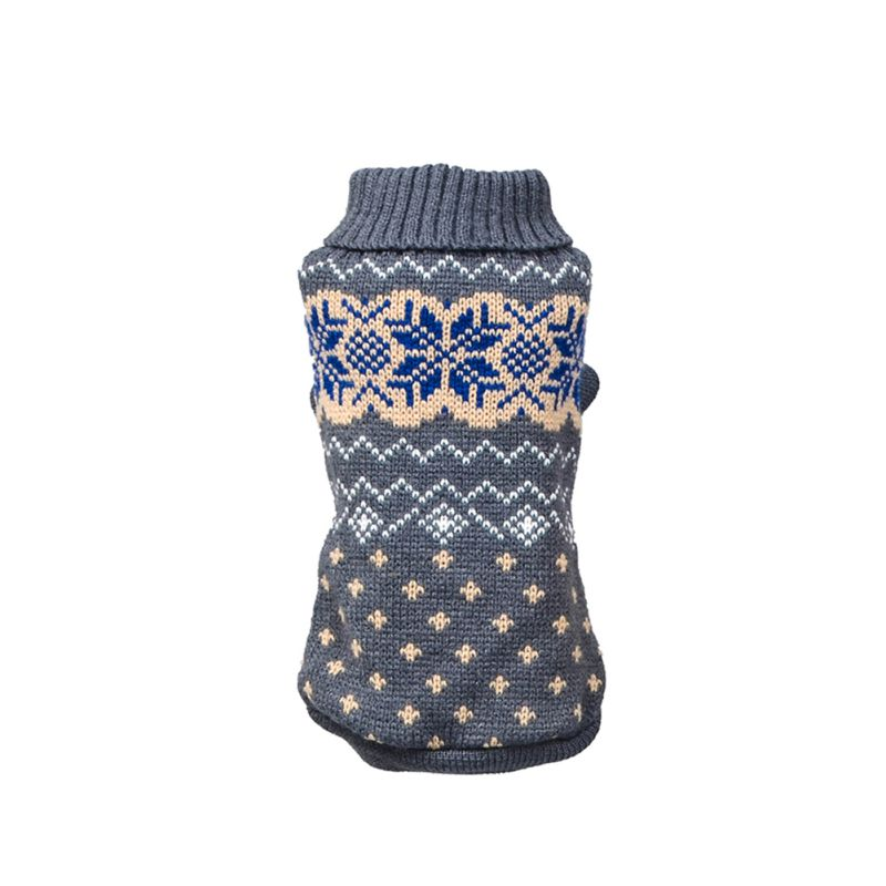 Вязаный классический свитер для собак и щенков, зимняя теплая одежда для маленьких и средних собак