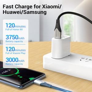 Image 4 - Vention 3A מיקרו USB כבל טעינה מהירה חוט עבור אנדרואיד טלפון נייד נתונים סנכרון מטען כבל 3M 2M עבור סמסונג HTC Xiaomi Sony