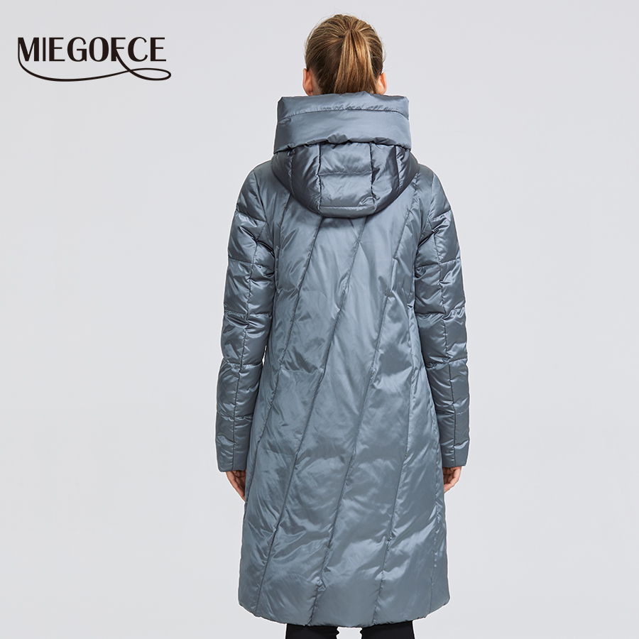 Image 4 - MIEGOFCE 2019 Winter Jacket Women's Collection Warm Coat With Unusual Design and Colors Parka Gives Charm and Elegance Suitable-in Parkas from Women's Clothing