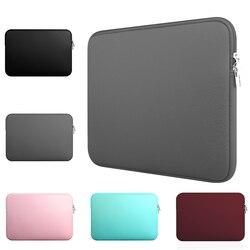 Yicana 11 12 13 14 15 15.6 polegada caso luva do portátil para macbook ar pro ultra-livro computador portátil saco de zíper macio