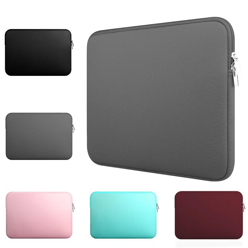 Yicana 11 12 13 14 15 15.6 polegada Laptop Sleeve case Para Macbook Air Pro Ultra-livro Notebook computador bolsa Com Zíper suave
