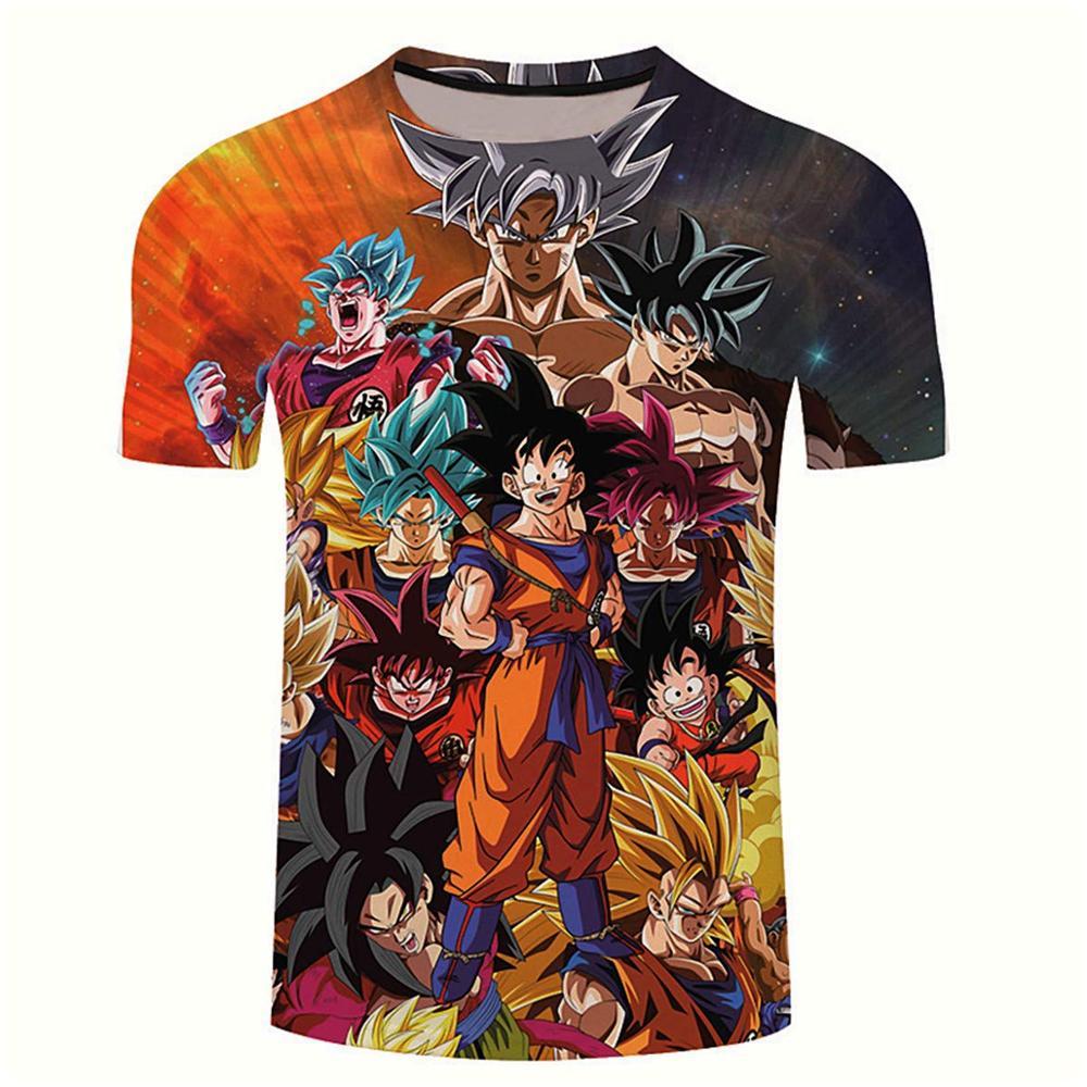 New Arrival Funny Goku Dragon Ball Z 3d T Shirt Summer Fashionable Short Sleeve Hip Hop Tee Tops Men Anime DBZ Harajuku T-Shirts