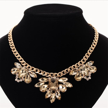New Luxury Fashion Brand of Women jewelry Crystal Necklaces & Pendants Large Collar statement necklace N315 meild big crystal clear pendants necklace women fashion punk statement collar choker necklaces jewelry party gifts