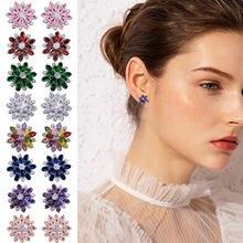 Женские серьги 2020 модные с украшением в виде кристаллов украшенное