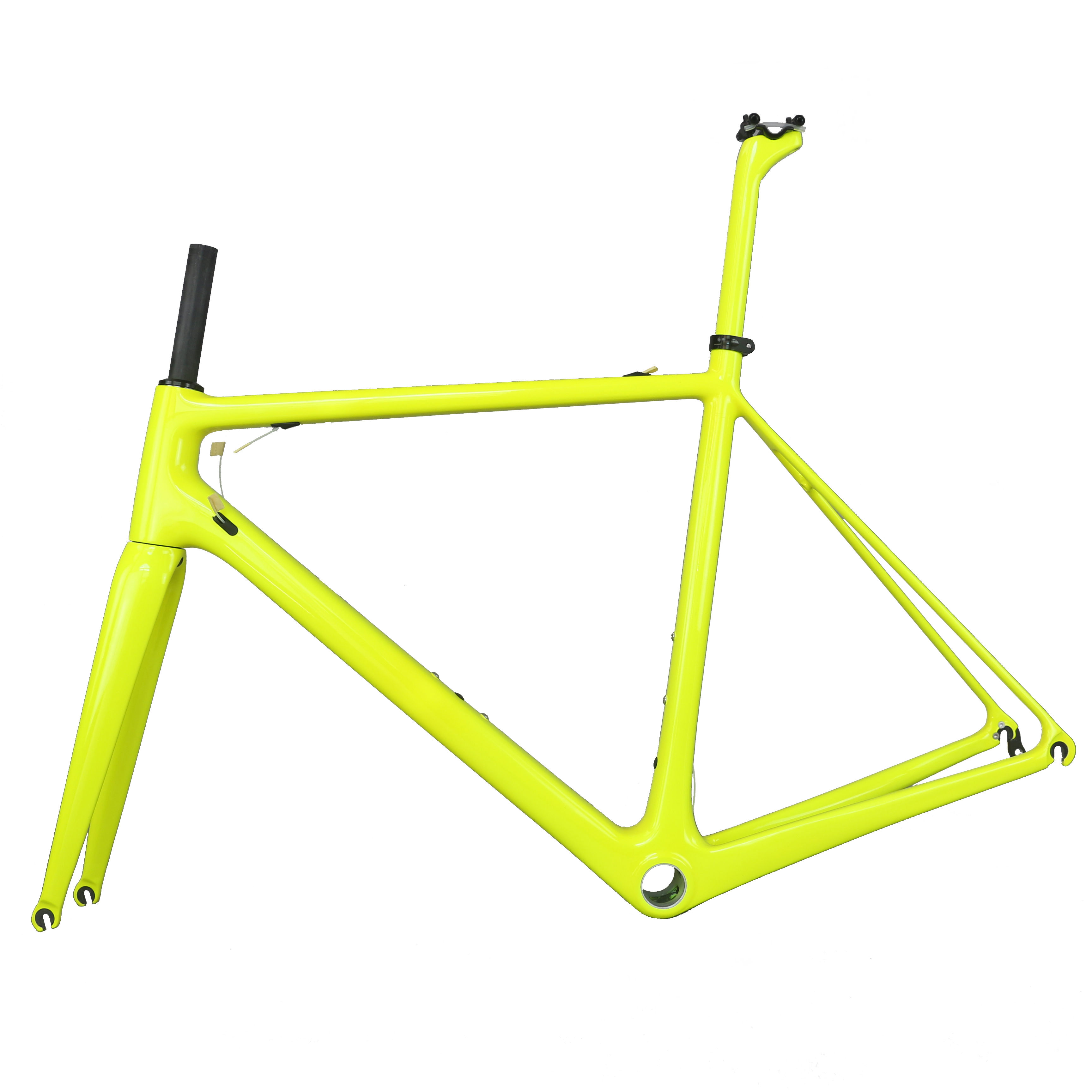 2019 New BSA Fluorescent Yellow Paint Frame BB30 T1000 Carbon Fiber With 27.2 Seat Post Carbon Road Frame FM066