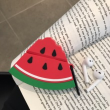 3D watermelon-shaped Bluetooth Wireless Earphone Case For Apple AirPods Silicone Charging box Headphones Cases Accessories