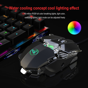 Image 2 - RGB Gaming Mouse 6400 DPI High Precision Wired USB Computer Mause Mouse Gamer 9 Keys Programmable Macros Define Game Mice Mouse